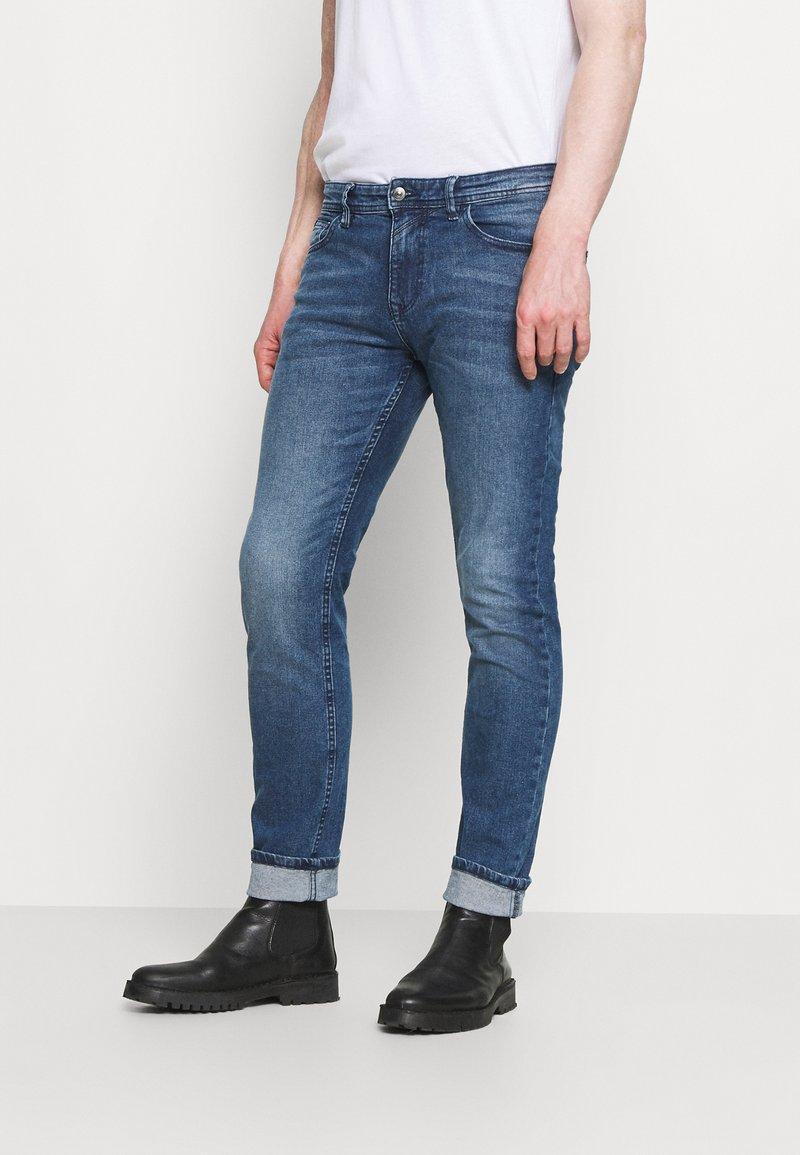 TOM TAILOR DENIM - SLIM PIERS BLUE STRETCH  - Slim fit jeans - used light stone blue denim