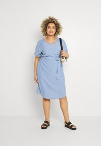 ONLY Carmakoma - CARBLUE DRESS - Day dress - colony blue/white - 1