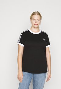 adidas Originals - TEE - Print T-shirt - black/white - 0