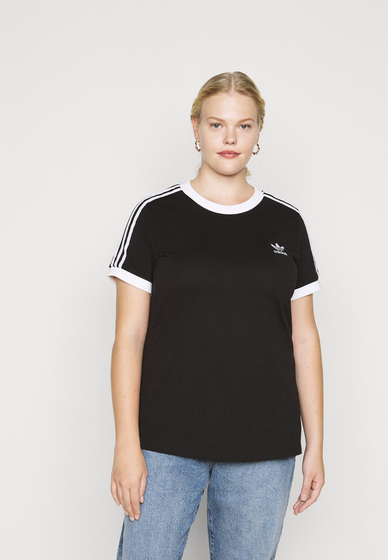 adidas Originals - TEE - Print T-shirt - black/white
