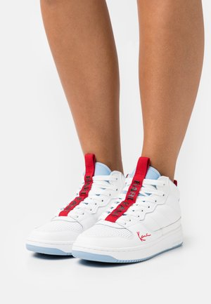 89 MID - High-top trainers - white/powder blue/true red