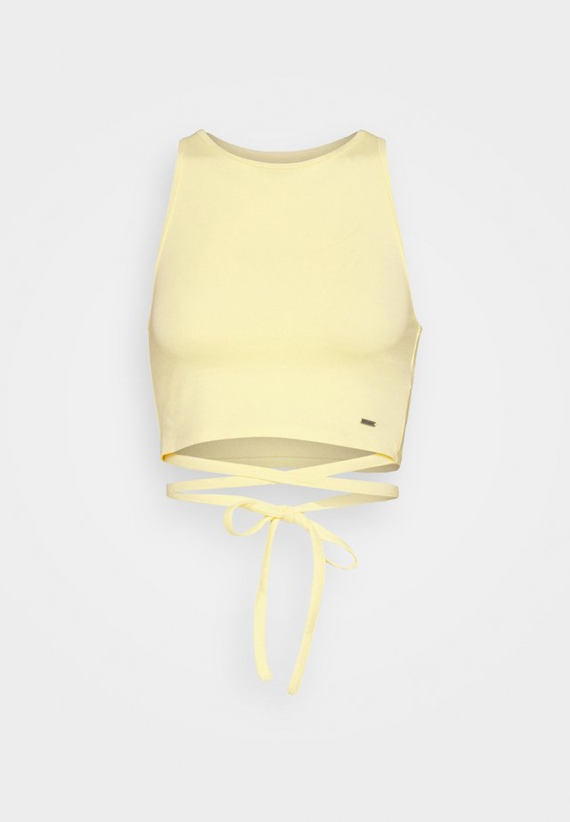 STRAPPY WRAP TANK - Linne - yellow
