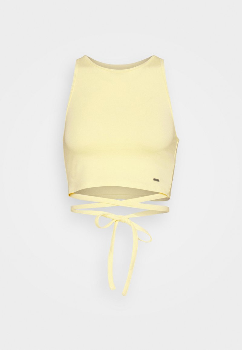 Hollister Co. - STRAPPY WRAP TANK - Top - yellow