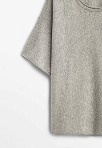 Massimo Dutti - STRICKSHIRT  - Basic T-shirt - grey - 3