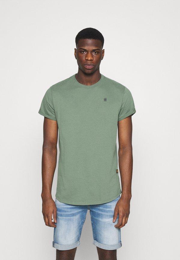 G-Star LASH ROUND SHORT SLEEVE - T-shirt basic - teal grey/turkusowy Odzież Męska CHXU