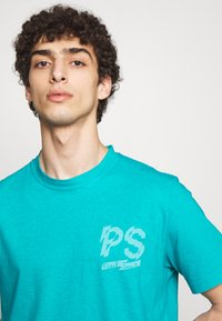 PS Paul Smith - T-Shirt print - neon blue - 4