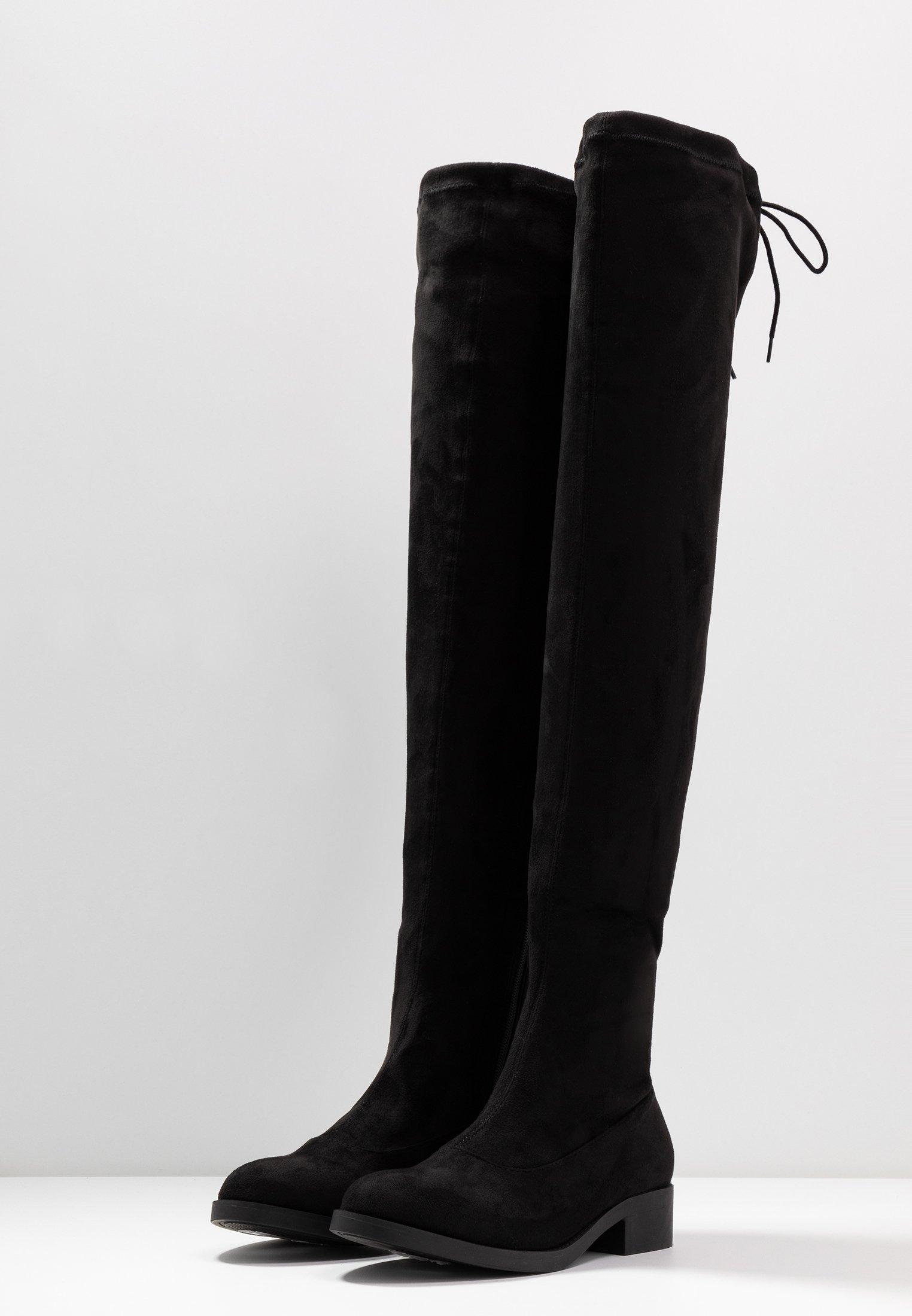 WIDE FIT OLIVIA OVER THE KNEE BOOT Overknee laarzen black