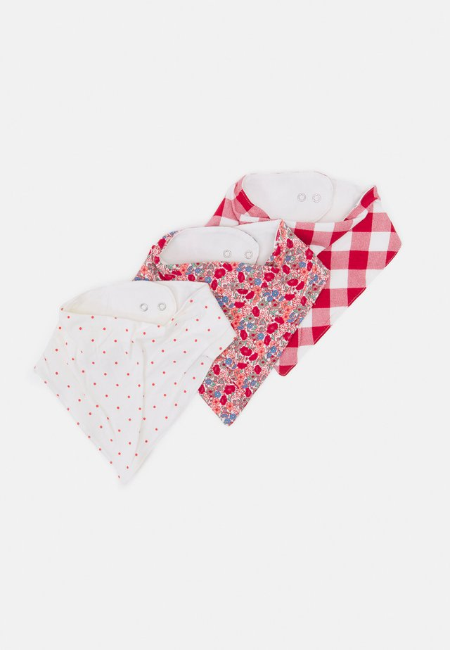 BANDANA BIB 3 PACK UNISEX - Halsdoek - lucky red/red orange mix