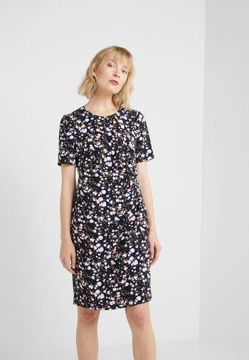 CAROL DRAPE DRESS - Denní šaty - black/pink