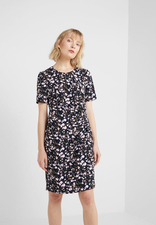 CAROL DRAPE DRESS - Korte jurk - black/pink