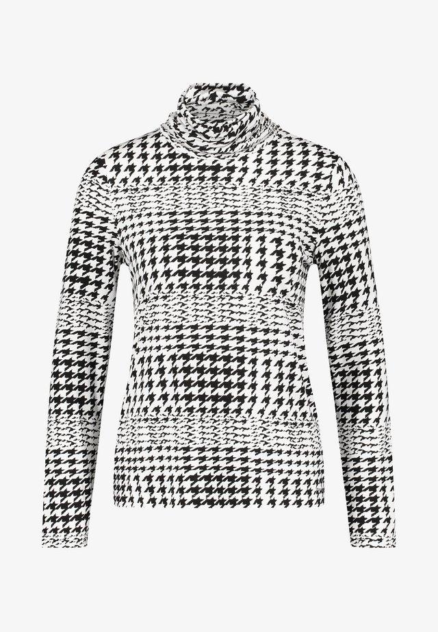 MIT HAHNENTRITTMUSTER - Print T-shirt - black gemustert