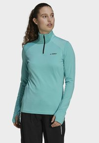 adidas Performance - TERREX EVERYHIKE HALF-ZIP FLEECE OBERTEIL - Fleece jumper - mint - 0
