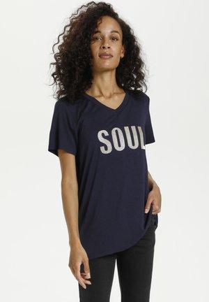 KASOUL - Print T-shirt - midnight marine