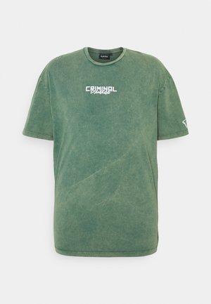 LEAF TEE - T-shirt print - green washed