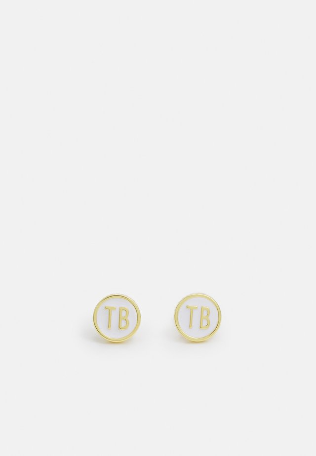 DOLLSA DOLLY MIX ROUND STUD EARRING - Korvakorut - gold-coloured/white