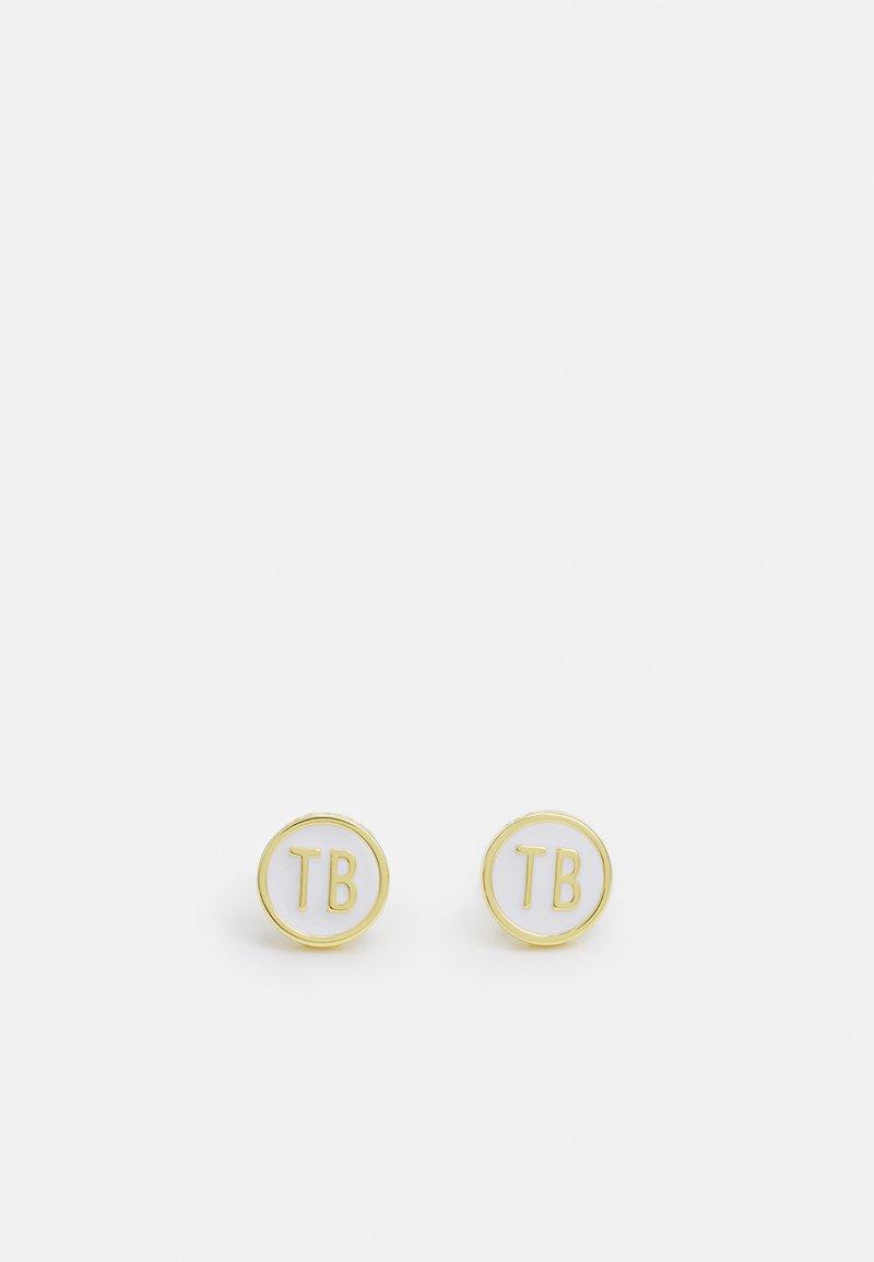 Ted Baker - DOLLSA DOLLY MIX ROUND STUD EARRING - Earrings - gold-coloured/white