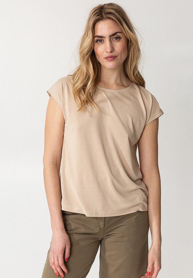 LENORA - T-shirt basic - beige