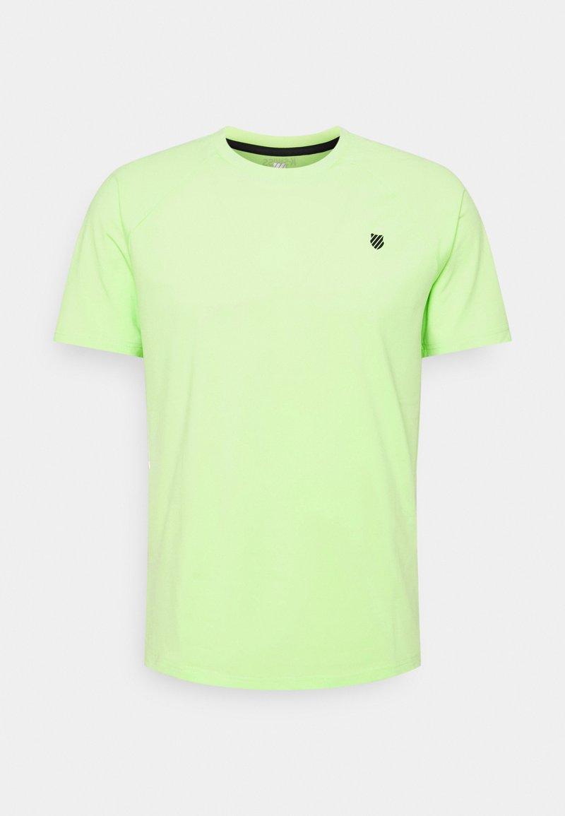 K-SWISS - HYPERCOURT CREW  - Jednoduché triko - soft neon green