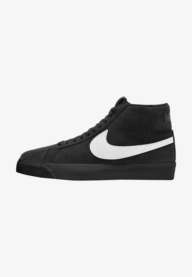 Sneakersy wysokie - black white