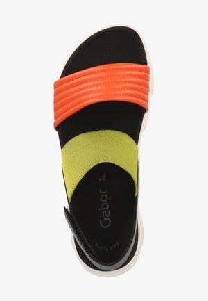 Sandały na platformie - light yellow