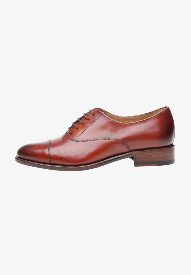 NO. 1150 - Smart lace-ups - cognac