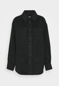 Topshop - OVERSHIRT - Short coat - navy - 3