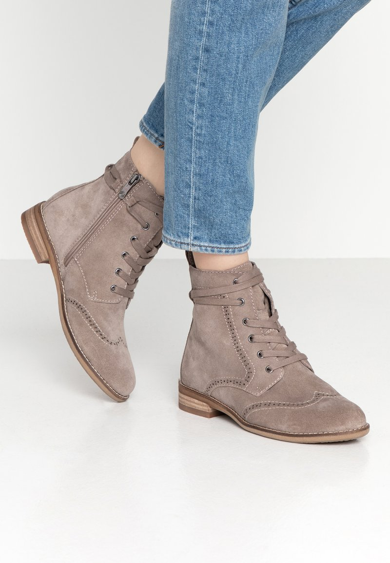 Be Natural - Botines con cordones - taupe