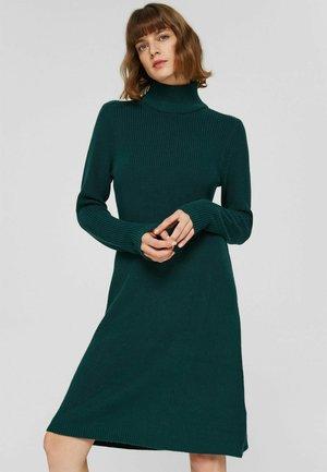 FLAT - Jumper dress - dark teal green