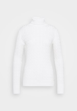 CROYDE CABLE ROLL NECK - Jumper - winter white