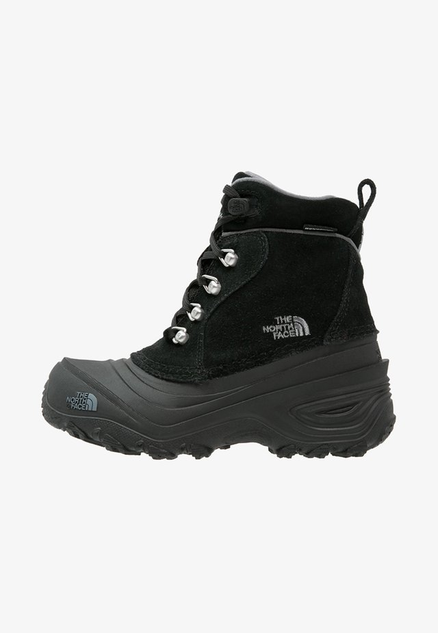 Y CHILKAT LACE II - Śniegowce - tnf black/zinc grey