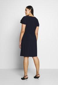 Lauren Ralph Lauren Woman - MID WEIGHT DRESS - Jersey dress - dark blue - 2