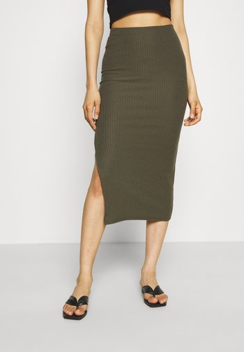 ONLNELLA LONG SLIT SKIRT  - Pencil skirt - kalamata