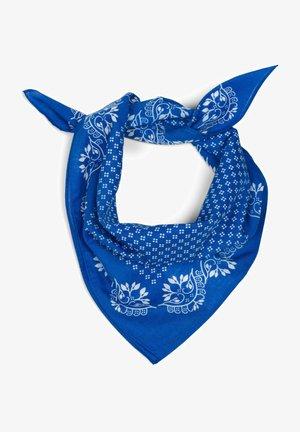 MIT BLÜMCHEN MUSTER - Foulard - blau/weiß
