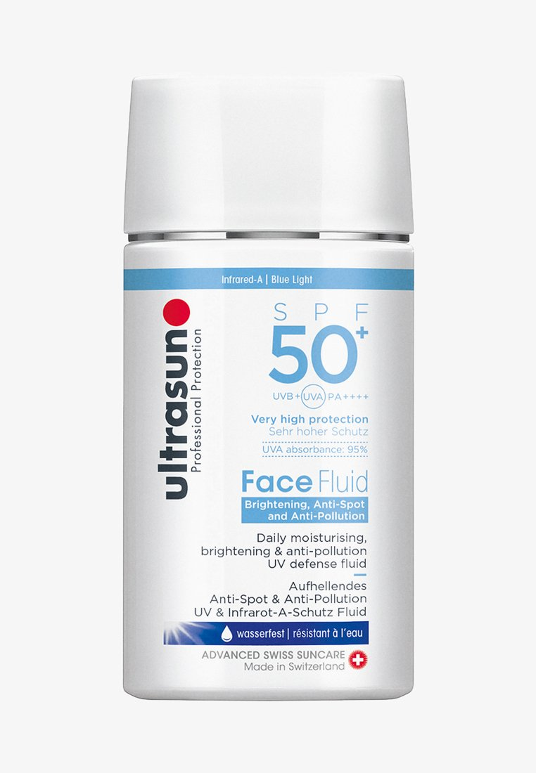 Ultrasun - FACE FLUID BRIGHTENING & ANTI-POLLUTION SPF50+ - Crema solare - -