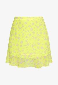 Calvin Klein Jeans - FLARE SKIRT - A-line skjørt - yellow grungy halftone grey floral - 3
