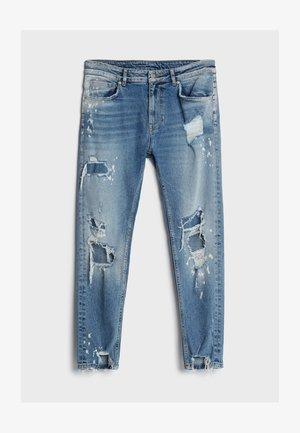 MIT RISSEN - Skinny džíny - blue