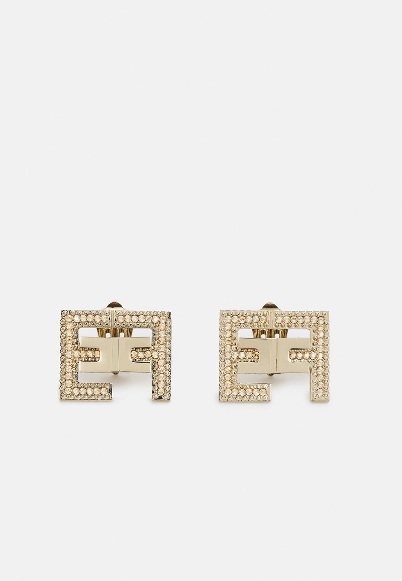 Elisabetta Franchi - CLIP ON EARRINGS - Earrings - oro light