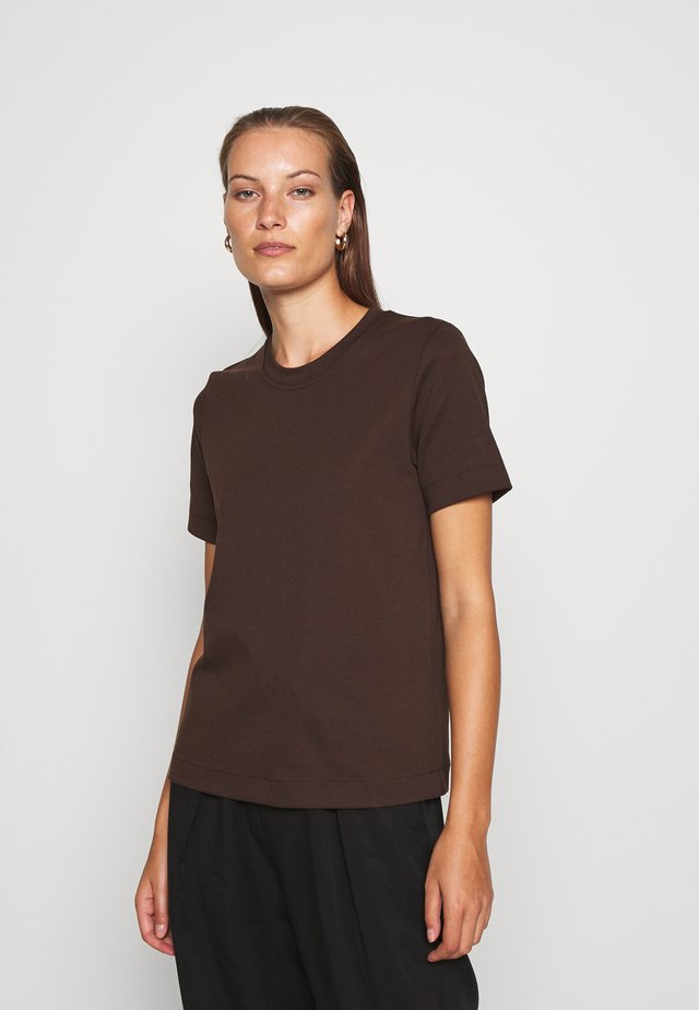 Basic T-shirt - brown dark