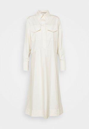 PATCH POCKET SHIRT DRESS - Maxi dress - off white