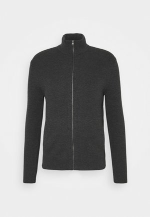 FULL ZIP - Kardigan - dark charcoal