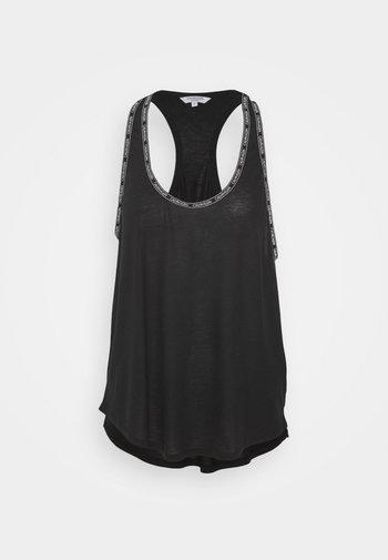 CORE LOGO TAPE TOP - Pyjama top - black