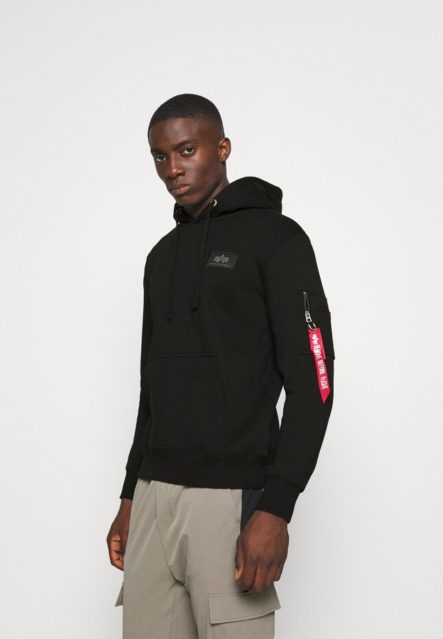 BACK HOODY FOIL - Luvtröja - black/chrome