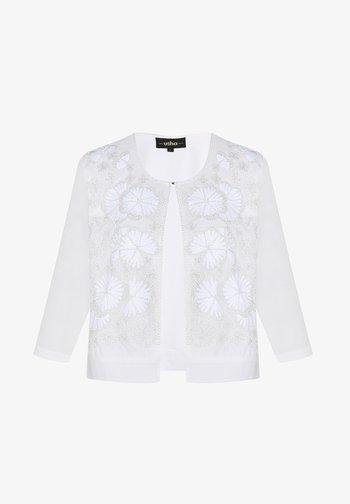 Kardigan - woolen white