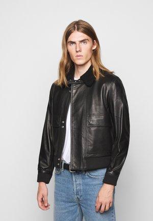 VOLF - Kožená bunda - black