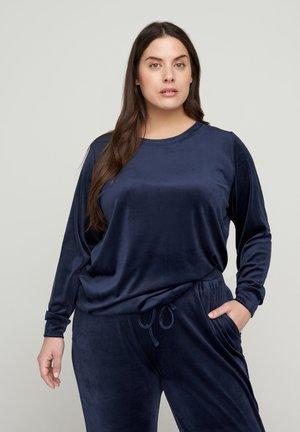 MIT BINDEDETAIL - Sweatshirt - blue