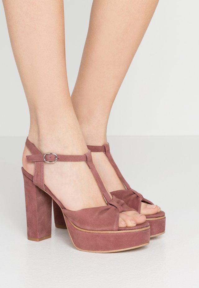 MOLDAVIA - Sandaler med høye hæler - rose