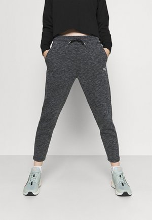 EVOSTRIPE PANTS - Tracksuit bottoms - black heather