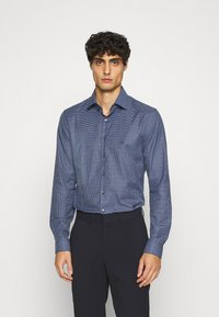 Calvin Klein Tailored - SMALL CHECK EASY CARE SLIM - Formal shirt - blue - 0