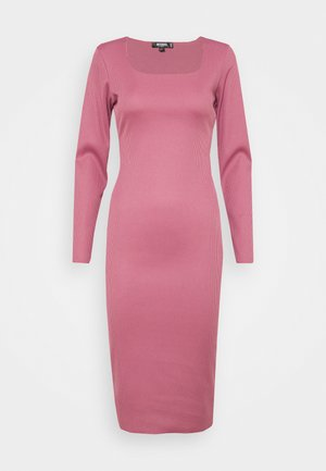LONG SLEEVE MIDI DRESS - Etuikjole - pink