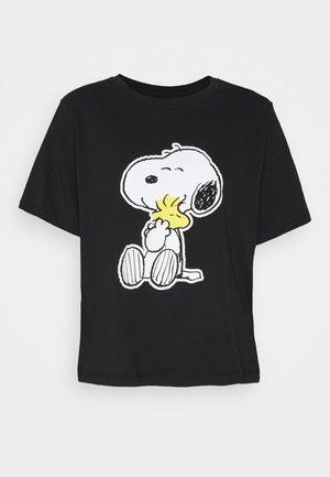PEANUT LIFE PRINT - T-shirts med print - black